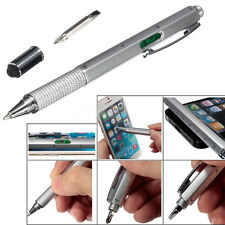Top 6 In 1 Touch Stylus Ballpoint Pen With Spirit Level Ruler Screwdriver Tool