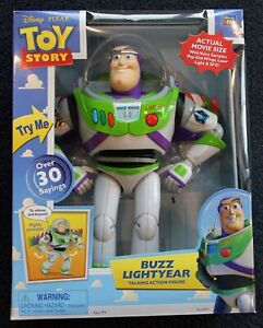 "Toy Story Thinkway 12"" Buzz Lightyear Talking Action Figure!  Over 30 phrases!"