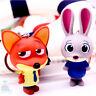 Disney Zootropolis Bunny Police Judy Hopps / Red Fox Nick Wilde Keyring Bag Tag