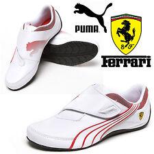 PUMA Mens Drift Cat 3 Ferrari Trainers Motor Sports F1 Scuderia White Shoes