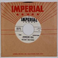 WILDER BROTHERS: Johnson Rag / Tigertail US Imperial Promo Rock 45 NM-