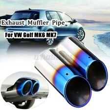 2pc Stainless Steel Exhaust Tail Trim Muffler Pipe Tip For VW Golf Mk6 Mk7 Skoda