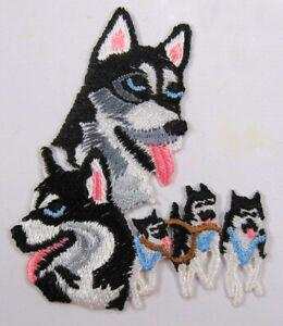 Husky heat seal embroidered badge