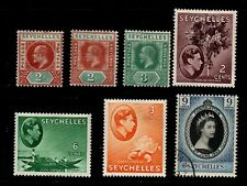 Seychelles E7 to QE2 selection of 7 mint & used.