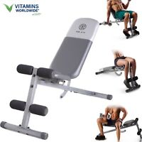 ADJUSTABLE WEIGHT BENCH Full Body Workout Home Gym Exercise Incline Flat Abs Pre