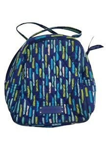 Vera Bradley Small Blue Zip Side ID Insulated  Lunch Snack Bag