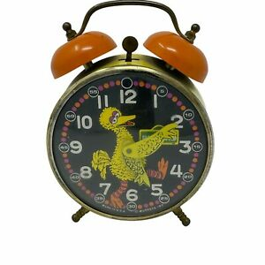 Bradley Big Bird Sesame Street Wind Up Alarm Clock Rare Vintage 1970s. NO KEYS