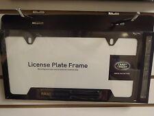 Range Rover Land Rover Logo Black Finish Steel License Plate Frame - OEM New