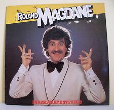 33 tours Roland MAGDANE LP Vinyl ENREGISTREMENT PUBLIC -WEA 723617
