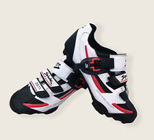 Genuine Spiuk ZS-11 MTB Cycling Shoes In White Red Black Size 45 Airing Shell