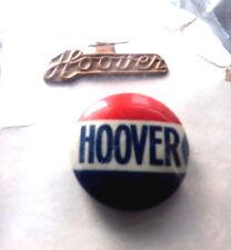 5497 1928 Campaign Herbert HOOVER Embossed Metal Tab