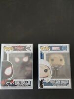 LOT of 2 Funko POP Miles Morales Spider-Man #402 Spiderverse and Spider Gwen FS