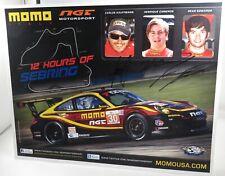 PROMO CARD cm21x27 PORSCHE 997 GT3 Cup NGT MOMO Sean Edwards SEBRING 2012 signed