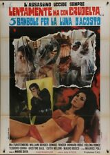 FIVE DOLLS FOR AN AUGUST MOON Italian 2F movie poster 39x55 EDWIGE FENECH GIALLO