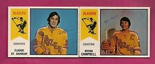 RARE 1974-75 OPC WHA BLAZERS  ST SAUVEUR RC + BRYAN CAMPBELL CARD  (INV# A1952)