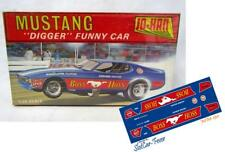 CD_MM-130 Boss Hoss Mustang Digger Early Funny Car   1:18 Scale Decals