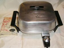Vintage SUNBEAM Aluminum Electric Frying Pan Model SML-B - 11.5 x 11.5 - Works!