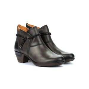 Womens Pikolinos Rotterdam Leather Tassel Anke Boots Cushioned Heel Boots NEW