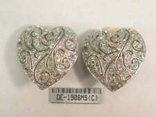Earrings with 190 Swarovski Crystals #1906Ms Dolphin Ore Silver Sp Filigree clip