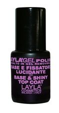 LAYLA GEL POLISH BASE E FISSATORE LUCIDANTE PROFESSIONALE PER SMALTO 10 ML