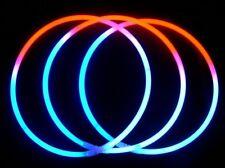 500 Tri-Color RED WHITE BLUE Glow Necklaces Bulk Wholesale + FREE 300 Bracelets