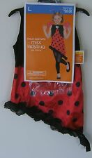 Miss Ladybug Halloween Costume Child Girls Lady Bug Dress Wings Antenna Large