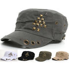 women Cadet Military Army Cap Visor Trucker Distressed Vintage Look hats ccj1