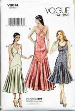 VOGUE SEWING PATTERN 8814 MISSES 14-22 CUSTOM FIT FORMAL/EVENING GOWN/MAXI DRESS
