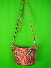 MAURIZIO TAIUTI ITALY Dark Pink Real Python NEW Cross Body Shoulder Bag