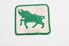 Vintage Taurus zodiac Astrology Horoscope patch