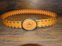 15965/ NEW Mens Leather JOHN DEERE BELT with Buckle ~ w/ tags ~ Size XL 38 - 40