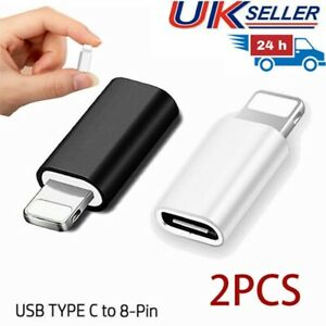 UK 2 X USB-C Type C to OTG Adapter Data Sync Connector Fits For iPhone iPad Mac