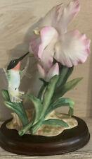 1985 Homco Masterpiece Bone China Hummingbird with Flower Box & certificate