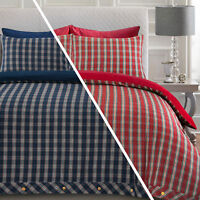 Highland Tartan Check 100% Brushed Cotton Flannelette Duvet Cover Bedding Set