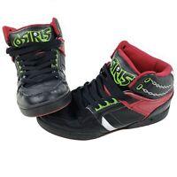 Osiris Rare SPAWN High Top Skate Shoes NYC 83 Bronx Black Red Green Size 10.5