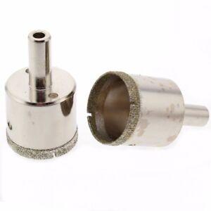 2Pcs 20-40 mm Diamond Hole Saw Coated Core Drill Bit Masonry Drilling Cutter