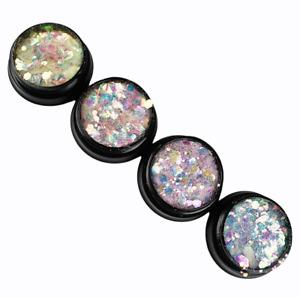 4 Dosen Magic Glittermixe (175) Farbe kommt auf dunklen Untergrund zur Geltung