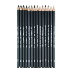 New 14 pcs/set Professional Sketch Drawing Pencil Set not Derwent Faber Castell