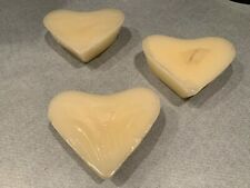 Longaberger Valentine's Day Heart Candle 3-Pack - Sealed in Original Packaging
