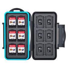 Étui Boîte de Carte Mémoire pour 12 Cartes Nintendo Switch + 12 micro SD / BK