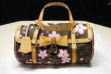 AUTHENTIC LOUIS VUITTON BROWN CHERRY BLOSSOM PAPILLON NEW