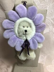 Boyds Bears Lila Mini Plush Ornament Flower