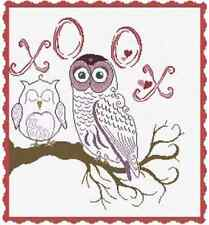 Alessandra Adelaide Needleworks OWLS XO OX Counted Cross Stitch Pattern 2016