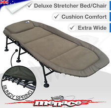 Deluxe Xtra Wide Folding Camping Bed Stretcher Strong Foldable Camp Portable