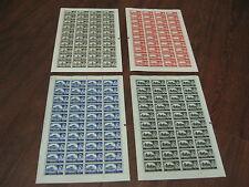 1963 BRADBURY CASTLE WMK SETS  4 COMPLETE  SHEETS 10/- 5/- £1 2/6 SG 595a -598a