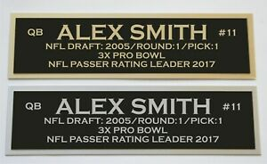 Alex Smith nameplate for signed autographed jersey football helmet or photo