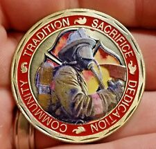 Firefighter challenge coin Saint Florian patron of firefighters Catholic