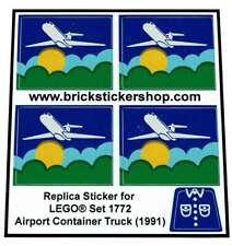 Precut Replica Sticker for Lego Set 1772 - Airport Container Truck (1991)
