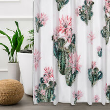 8Pcs Melarosa Pink High Quality Scarf Sheer shower Curtain set Window Curtain