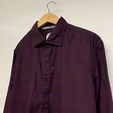 Ganesh Mens Purple / Burgundy Long Sleeve Shirt Button Down - Size XXL